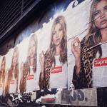 ケイト・モスのシュプリームのポスターとTシャツ