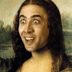 モナリザの画像と合成されたニコラス・ケイジ